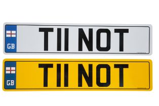 UK VEHICLE REGISTRATION NUMBER 'T11 NOT'