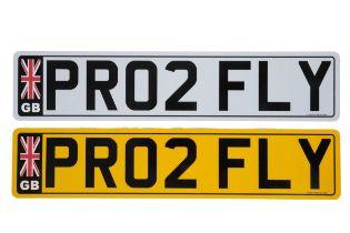 UK VEHICLE REGISTRATION NUMBER 'PR02 FLY'