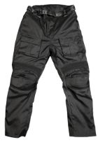 A PAIR OF TEXSPEED GORETEX MOTORCYCLE OVER-JEANS