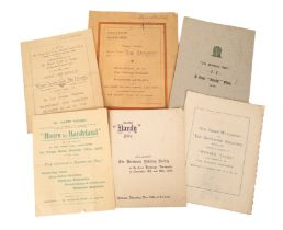 ORIGINAL PROGRAMMES FOR EVENTS RELATED TO THOMAS HARDY AND PERFORMED IN DORCHESTER