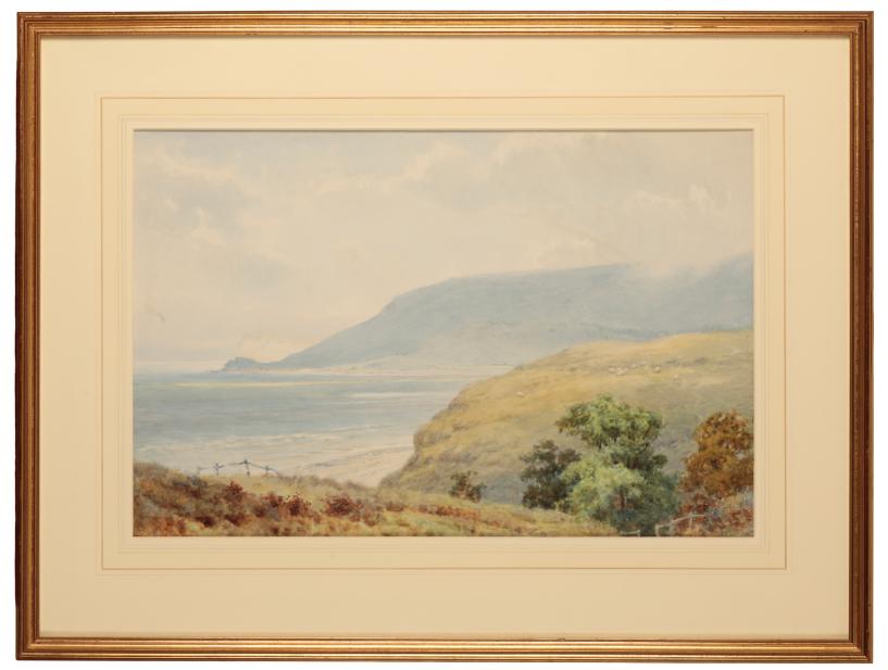ELLIOT HENRY/HAIGH MARTEN (FL. 1886-1910) 'A Bay Near Lulworth'