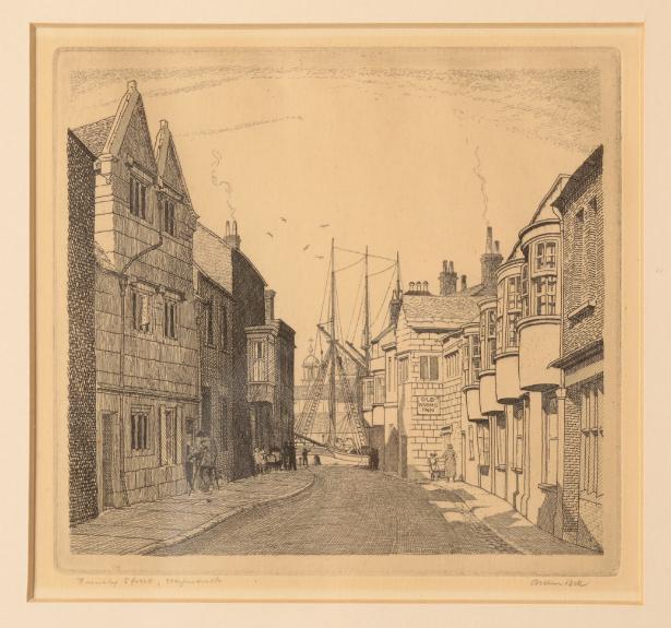 *ARTHUR BELL (1897-1995) 'St. Alban's Street, Weymouth' - Image 2 of 4