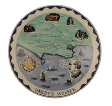 'HARDY'S WESSEX' A LIMITED EDITION POOLE POTTERY CHARGER