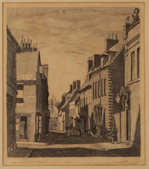 *ARTHUR BELL (1897-1995) 'St. Alban's Street, Weymouth' - Image 4 of 4