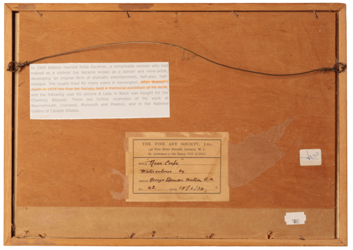 GEORGE SPENCER WATSON (1869-1934) 'Near Corfe' - Image 2 of 2