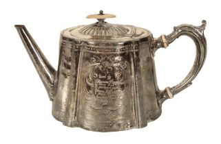 THOMAS HARDY INTEREST: A SILVER PLATED TEAPOT
