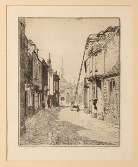 *ARTHUR BELL (1897-1995) 'St. Alban's Street, Weymouth' - Image 3 of 4