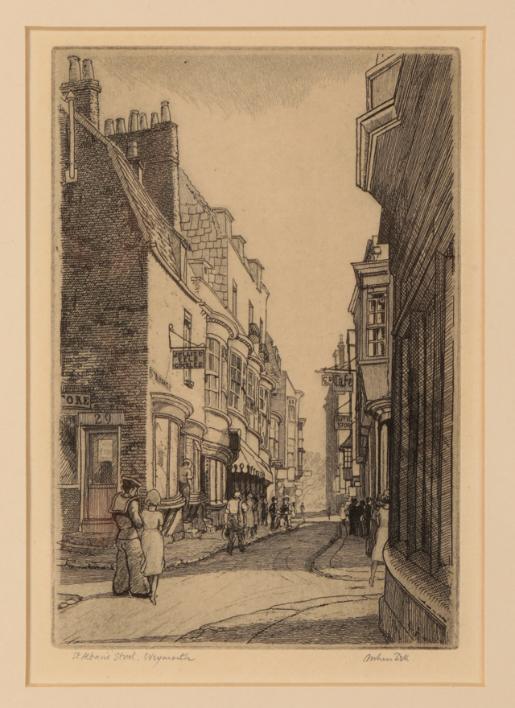 *ARTHUR BELL (1897-1995) 'St. Alban's Street, Weymouth'