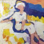 JULIAN BAILEY (B. 1963) 'Lakeside Figure, 2020 (Chloe at Kingston Maurward)'