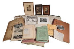 A COLLECTION OF THOMAS HARDY CUTTINGS AND EPHEMERA,