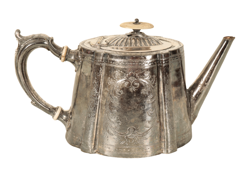 THOMAS HARDY INTEREST: A SILVER PLATED TEAPOT - Image 2 of 3
