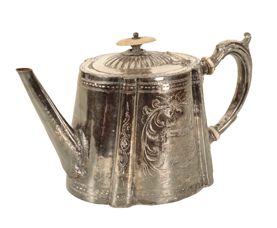 THOMAS HARDY INTEREST: A SILVER PLATED TEAPOT - Image 3 of 3