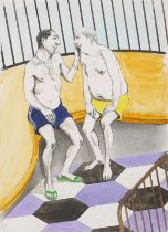 CHARLES AVERY (b.1973) 'Untitled (Two Guys Poolside), 2016'