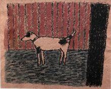 AMANDA VESEY (b. 1939) 'Dog (red) 2019'