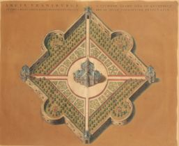 JOAN BLAEU (1596-1673) A MAP OF STJERNEBORG 'THE CASTLE OF THE STARS'