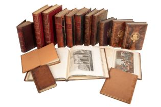 A SMALL QUANTITY OF LEATHER BOUND BOOKS