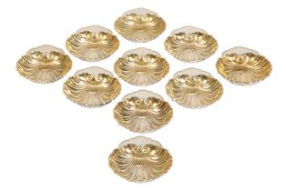 GORHAM: A SET OF TWELVE SILVER SHELL DISHES