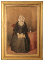 WILLIAM SIMPSON (1823-1899) A portrait of Mrs James Wilson