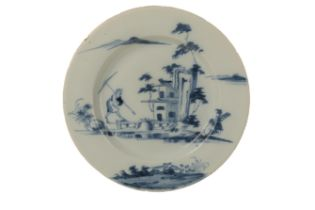 AN ENGLISH DELFTWARE PLATE