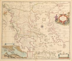 JOHN SENEX (1678-1740) 'A MAP OF GREECE WITH PART OF ANATOLIA'