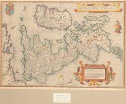 ABRAHAM ORTELIUS (1527-1598) A MAP OF THE BRITISH ISLES