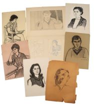 PETER SNOW (1927-2008) A FOLIO OF EARLY PORTRAITS