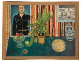 PETER SNOW (1927-2008) self portrait in an interior