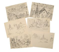 PETER SNOW (1927-2008) A QUANTITY OF UNFRAMED WORKS