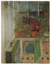 PETER SNOW (1927-2008) Still life study of various house plants, The Knoll, Beckenham, Kent