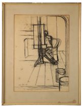 PETER SNOW (1927-2008) Figure drawing at an easel