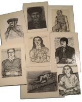 PETER SNOW (1927-2008) A FOLIO OF PORTRAITS OF FELLOW ARTISTS, DESIGNERS AND WRITERS