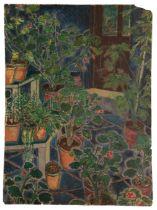 PETER SNOW (1927-2008) 'Still life study of various house plants, The Knoll, Beckenham, Kent'
