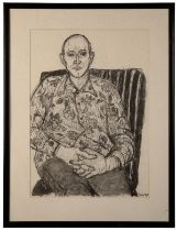 PETER SNOW (1927-2008) 'Man in a chair wearing floral shirt'
