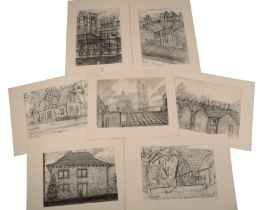 PETER SNOW (1927-2008) A FOLIO OF CHARCOAL SKETCHES