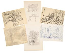 PETER SNOW (1927-2008) A FOLIO OF DRAWINGS AND PRINTS