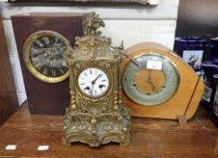 A 19TH CENTURY FRENCH ORMOLU CLOCK