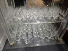 A COLLECTION OF CUT GLASSWARE