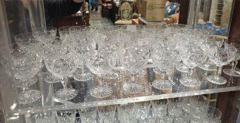 A SET OF WEBB CORBETT CHAMPAGNE GLASSES