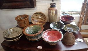 A COLLECTION OF POTTERY, INCLUDING WORK BY MICHAEL BUCKLAND