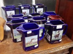 A COLLECTION OF SETON POTTERY FOR MARTELL COGNAC WATER JUGS