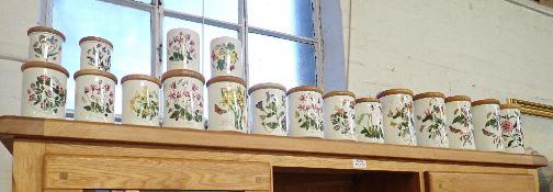 A LARGE COLLECTION OF PORTMEIRION BOTANICAL GARDEN STORAGE JARS