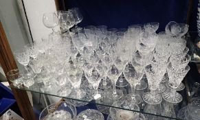 A LARGE COLLECTION OF DRINKING GLASSES