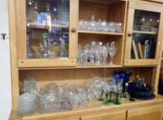 A LARGE QUANTITY OF GLASSWARE
