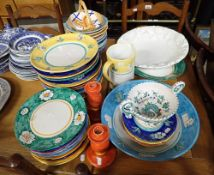 A COLLECTION OF ITALIAN BRIGHTLY DECORATED DINNER PLATES