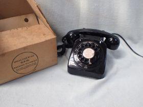 A GPO BLACK TELEPHONE 706CB.PX60/1