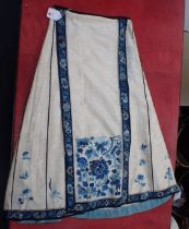 A CHINESE SILK EMBROIDERED SKIRT