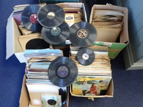 A COLLECTION OF 78 RPM GRAMOPHONE RECORDS