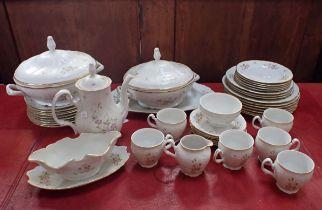 A PART 'BERNADOTTE' TEA AND DINNER SERIVCE