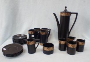 A PORTMEIRION 'GREEK KEY' COFFEE SET