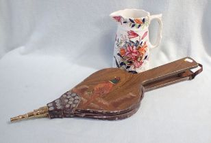 A PAIR OF BELLOWS, PAINTED WITH A PHEASANT